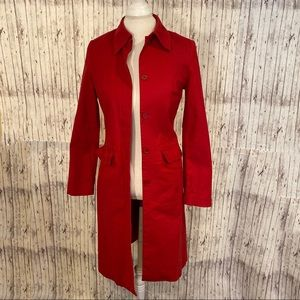 H&M Hennes Red Trench Coat